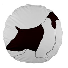 English Springer Spaniel Silo Color Large 18  Premium Round Cushions