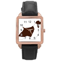 English Springer Spaniel Silo Color Rose Gold Leather Watch