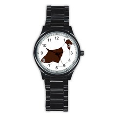 English Springer Spaniel Silo Color Stainless Steel Round Watch