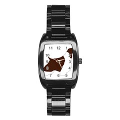 English Springer Spaniel Silo Color Stainless Steel Barrel Watch