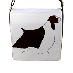 English Springer Spaniel Silo Color Flap Messenger Bag (L)