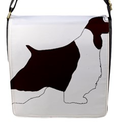 English Springer Spaniel Silo Color Flap Messenger Bag (S)