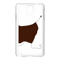 English Springer Spaniel Silo Color Samsung Galaxy Note 3 N9005 Case (White)
