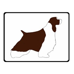 English Springer Spaniel Silo Color Double Sided Fleece Blanket (Small)