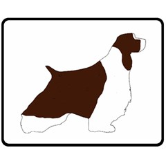 English Springer Spaniel Silo Color Double Sided Fleece Blanket (Medium)