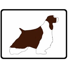 English Springer Spaniel Silo Color Double Sided Fleece Blanket (Large)