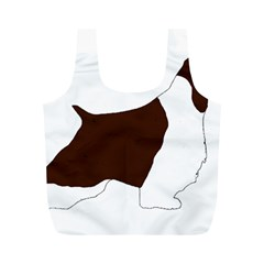 English Springer Spaniel Silo Color Full Print Recycle Bags (M)