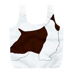 English Springer Spaniel Silo Color Full Print Recycle Bags (L)