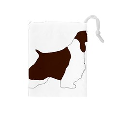 English Springer Spaniel Silo Color Drawstring Pouches (Medium)