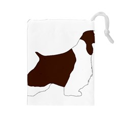 English Springer Spaniel Silo Color Drawstring Pouches (Large)