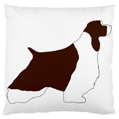English Springer Spaniel Silo Color Large Flano Cushion Case (Two Sides)