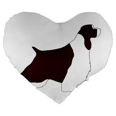 English Springer Spaniel Silo Color Large 19  Premium Flano Heart Shape Cushions