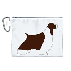 English Springer Spaniel Silo Color Canvas Cosmetic Bag (L)