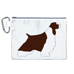 English Springer Spaniel Silo Color Canvas Cosmetic Bag (XL)