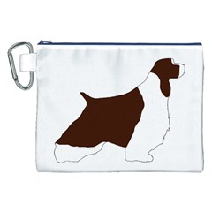 English Springer Spaniel Silo Color Canvas Cosmetic Bag (XXL)