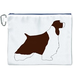 English Springer Spaniel Silo Color Canvas Cosmetic Bag (XXXL)