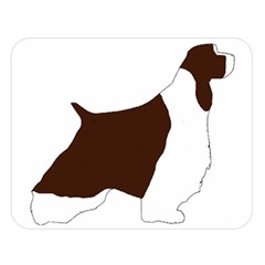 English Springer Spaniel Silo Color Double Sided Flano Blanket (Large)
