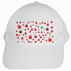 Beetle Animals Red Green Fly White Cap