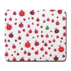 Beetle Animals Red Green Fly Large Mousepads