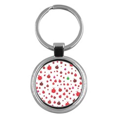 Beetle Animals Red Green Fly Key Chains (round)