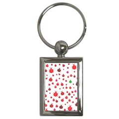 Beetle Animals Red Green Fly Key Chains (rectangle)