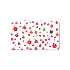 Beetle Animals Red Green Fly Magnet (name Card)