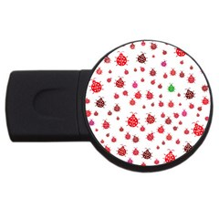 Beetle Animals Red Green Fly USB Flash Drive Round (2 GB)