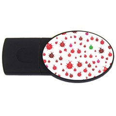 Beetle Animals Red Green Fly USB Flash Drive Oval (1 GB)