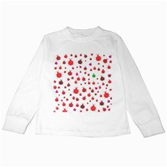 Beetle Animals Red Green Fly Kids Long Sleeve T-Shirts
