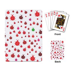 Beetle Animals Red Green Fly Playing Card