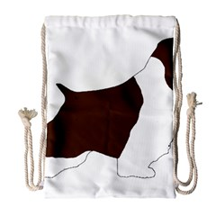 English Springer Spaniel Silo Color Drawstring Bag (Large)