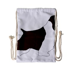English Springer Spaniel Silo Color Drawstring Bag (Small)