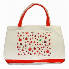 Beetle Animals Red Green Fly Classic Tote Bag (Red)