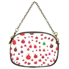 Beetle Animals Red Green Fly Chain Purses (two Sides)