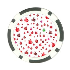Beetle Animals Red Green Fly Poker Chip Card Guard (10 Pack)