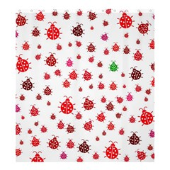Beetle Animals Red Green Fly Shower Curtain 66  x 72  (Large)