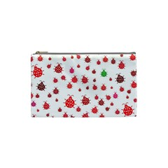Beetle Animals Red Green Fly Cosmetic Bag (small)