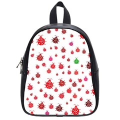 Beetle Animals Red Green Fly School Bags (small)