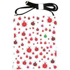 Beetle Animals Red Green Fly Shoulder Sling Bags