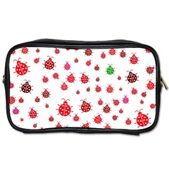 Beetle Animals Red Green Fly Toiletries Bags
