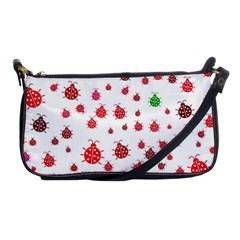 Beetle Animals Red Green Fly Shoulder Clutch Bags