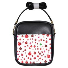 Beetle Animals Red Green Fly Girls Sling Bags