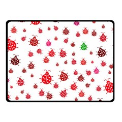 Beetle Animals Red Green Fly Fleece Blanket (Small)