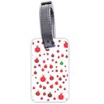 Beetle Animals Red Green Fly Luggage Tags (One Side)  Front