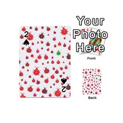 Beetle Animals Red Green Fly Playing Cards 54 (mini)