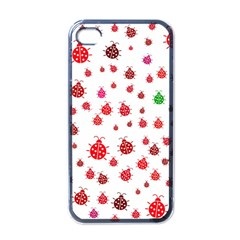 Beetle Animals Red Green Fly Apple Iphone 4 Case (black)