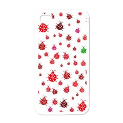 Beetle Animals Red Green Fly Apple Iphone 4 Case (white)