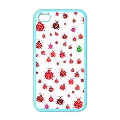 Beetle Animals Red Green Fly Apple Iphone 4 Case (color)