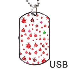 Beetle Animals Red Green Fly Dog Tag Usb Flash (one Side)
