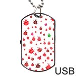 Beetle Animals Red Green Fly Dog Tag USB Flash (One Side) Front